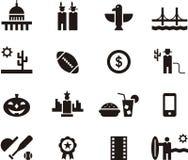 United States of America web icons Stock Photo