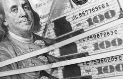 United States American Dollars close-up stock images