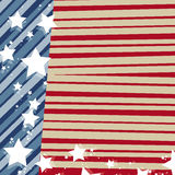 United States-American flag royalty free illustration