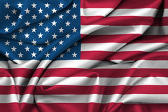 United States - American flag. USA American flag satin texture Stock Photo