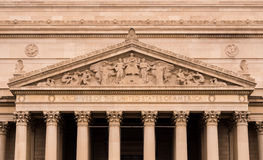 United States Archives. The facade of the United States Archives in Washington, DC Stock Photography