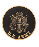 United states army emblem. On a plaque Royalty Free Stock Photos