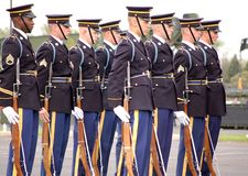 United States Army Honor Guard. Drilling at the Minnesota Military Expo Royalty Free Stock Images
