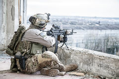 United States Army ranger. During the military operation Stock Photos