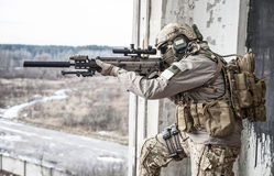 United States Army ranger. During the military operation Stock Photo