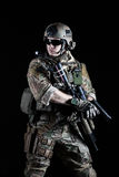 United States Army ranger with pistol Royalty Free Stock Photography