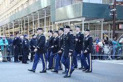 United States Army Rangers marching at the St. Patrick`s Day Parade in New York. Stock Photography