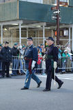 United States Army Rangers marching at the St. Patrick`s Day Parade in New York. Royalty Free Stock Photo