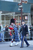 United States Army Rangers marching at the St. Patrick`s Day Parade in New York. Royalty Free Stock Photos