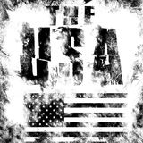 United States art. Street graphic style USA. Fashion stylish print. Template apparel, card, label, poster. emblem, t-shirt stamp. Graphics. Handwritten banner Stock Photos