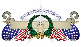 United States Banner Stock Image