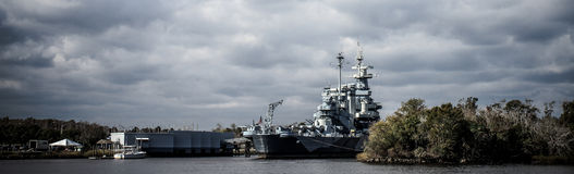 The United States Battleship North Carolina. Royalty Free Stock Photography