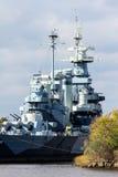 The United States Battleship North Carolina. The United States Navy Battleship North Carolina retired in Wilmington, North Carolina Royalty Free Stock Images