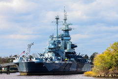 The United States Battleship North Carolina. The United States Navy Battleship North Carolina retired in Wilmington, North Carolina Stock Photography