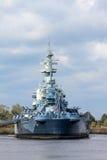 The United States Battleship North Carolina. The United States Navy Battleship North Carolina retired in Wilmington, North Carolina Royalty Free Stock Photo