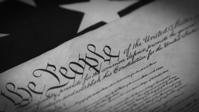 United States Bill of Rights Preamble to the Constitution stock video