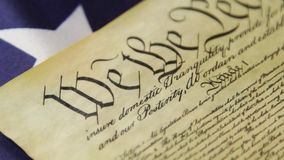 United States Bill of Rights Preamble to the Constitution stock video footage