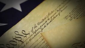 United States Bill of Rights Preamble to the Constitution stock footage
