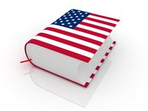United states book. With usa flag Royalty Free Stock Photos