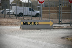 United States Border Crossing Stock Photo