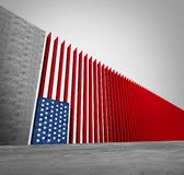 United States Border Wall royalty free stock images