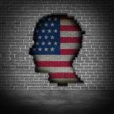 United States Border Wall Concept stock illustration
