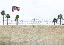 United States Border Wall Royalty Free Stock Image