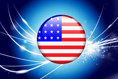 United States Button on Abstract Modern Light Background Royalty Free Stock Image