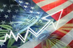 United States Cannabis Industry Profits. High Quality royalty free illustration