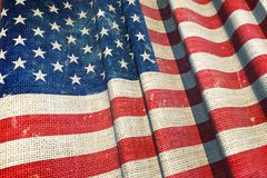 United States Canvas Flag Royalty Free Stock Photos