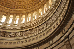 United States Capital dome. United States Capital interior dome in Washington, DC Stock Image