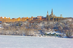United States capital after a snow storm. Stock Image