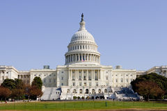 United States Capitol. In Autumn Season Royalty Free Stock Photography