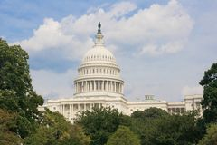 United States Capitol. In the Summer Royalty Free Stock Photo