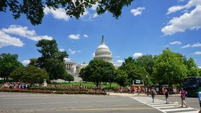 United States Capitol building with crowds Royalty Free Stock Photos