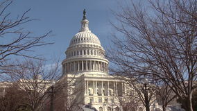 United States Capitol Building stock video footage