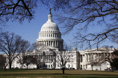 United States Capitol Building in early spring Stock Image