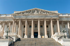 United States Capitol Building east facade in daylight with people Stock Photos