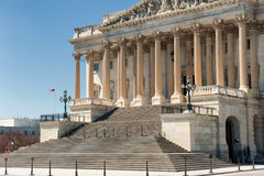 United States Capitol Building east facade in daylight with people Stock Photo