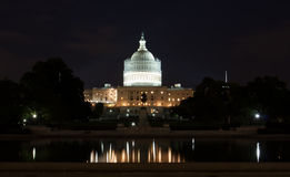 United States Capitol Building at Night Royalty Free Stock Photos