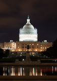 United States Capitol Building at Night Royalty Free Stock Images