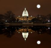 United States Capitol Building at night Stock Photo