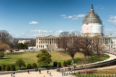 United States Capitol Building on reconstruction Royalty Free Stock Image