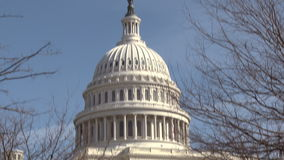 United States Capitol Building Rotunda stock footage