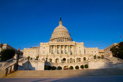 The United States Capitol. Is the capitol building that serves as the seat of government for the United States Congress, the legislative branch of the U.S Royalty Free Stock Image