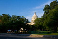The United States Capitol. Is the capitol building that serves as the seat of government for the United States Congress, the legislative branch of the U.S Royalty Free Stock Photo