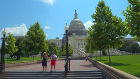 United States Capitol Building. Touring outside of the United States Capitol Building Washington DC stock video