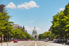 United States Capitol building in Washington, DC. As seen from Pennsylvania Avenue stock image