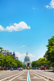 United States Capitol building in Washington, DC. As seen from Pennsylvania Avenue Stock Photos