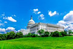 United States Capitol Building in Washington DC - Famous US Landmark and seat of the american federal government. USA stock image